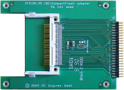 Abbildung CompactFlash nach IDE-Adapter (CF-Disk 44-Pin Cable-Select)